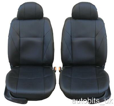 1+1 Front Pu Leather Black Seat Covers For Peugeot 206 307 407 208 308 Mpv 3008