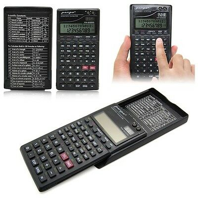 3-Line Display Electronic Calculator Scientific Statistics Fraction Clock Cover