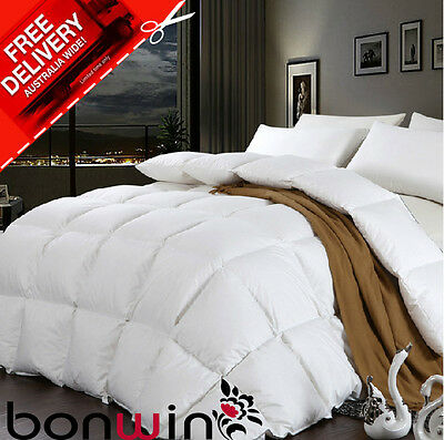 Sb/db/qb/kb 50% White Goose Down/feather Quilt/duvet/blanket 100% Cotton Cover