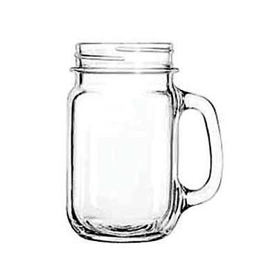 (12) Libbey 97084 Plain Mason Jar Drinking Glass Mugs Rustic Bridal Wedding