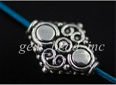 20Pcs Charms Tibetan Silver Crafts Jewelery Finding Spacer Rondelle Beads 15mm