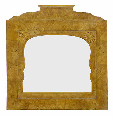 19Th Century Russian Root Birch Overmantle Mirror
