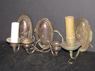 Lot Of 3 Individual Sconces Being Sold As Is 6036
