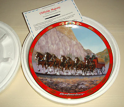 SUSIE MORTON Pride Of Budweiser Large Clydesdale Horses CLIFFSIDE MAJESTY Plate