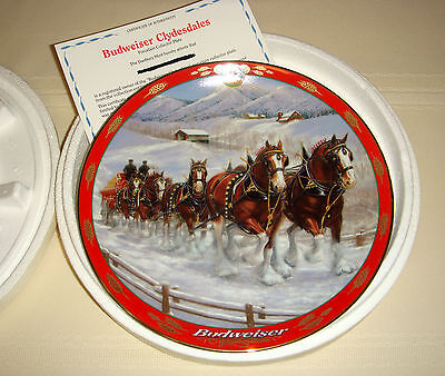 SUSIE MORTON Budweiser Pride Horses Pull Budweiser Wagonload CLYDESDALES Plate