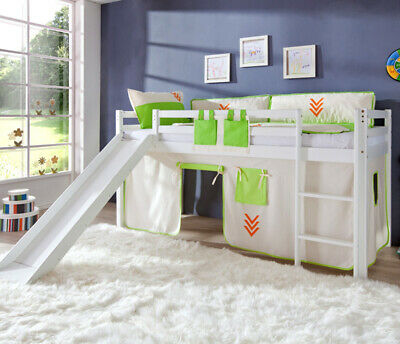 hochbett set kinderzimmer buche wei mit zubeh r rutsche blau design kinderbett eur 499 00. Black Bedroom Furniture Sets. Home Design Ideas