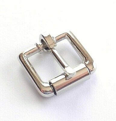 "Single Roller Belt Strap Buckles Nickel Plated 1/2"" + 3/4"" + 1 Inch Sizes"