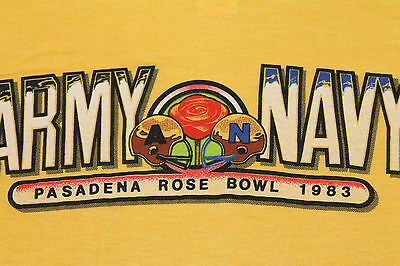 XS * NOS thin vtg 80s 1983 ARMY vs NAVY Rose Bowl football t shirt * 64.45