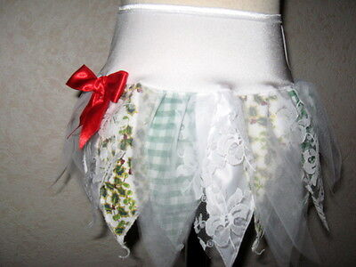 NEW Girls White,Green,Red Xmas Holly,Check,Lace,Goth,Fairy Tutu Skirt,Party,gift