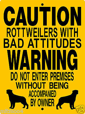 "ROTTWEILER  DOG SIGN.9""x12"" ALUMINUM SIGN,DOGS,WARNING,SECURITY,H3187CY"