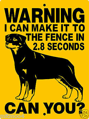 "ROTTWEILER DOG SIGN,9""x12"" ALUMINUM SIGN,DOGS,WARNING,SECURITY, H2827BRCY"