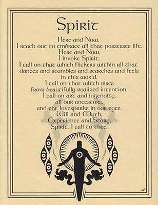 SPIRIT INVOCATION - POSTER A4 SIZE Wicca Pagan Witch Goth BOOK OF SHADOWS
