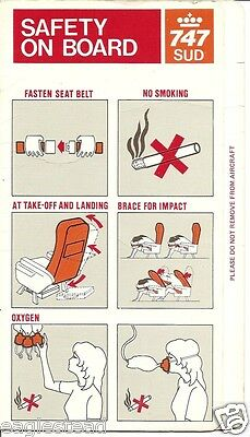 Safety Card - KLM - B747 - SUD - 1985 (S3372)