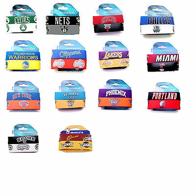 NBA rubber wrist band fan bracelet silicone 2 pack PICK your team