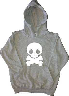 Fat Skull And Crossbones Kids Hoodie Sweatshirt