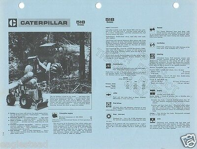 Equipment Brochure - Caterpillar - 518 - Skidder - Logging Forestry 1972 (E1183)