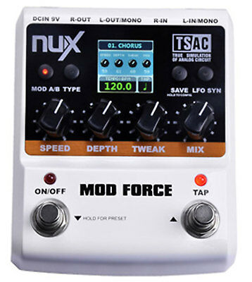NuX MOD FORCE Multi Modulation Effects Pedal - New