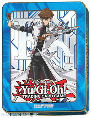 YuGiOh Collector Tin X With 105 Mint Cards Inc 10 Rare + 15 Holo + Game Mat