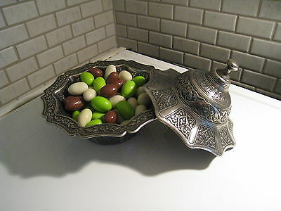 Vintage Turkish Ottoman Style Handmade Copper Sugar&candy&delight Bowl-Sifter