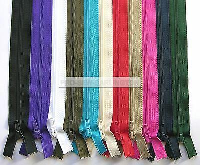 NYLON OPEN ENDED ZIP ( CHOICE OF 27 COLOURS & LENGTHS ) No5