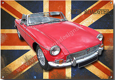 MG RV8 AUTHORIZED OWNER METAL ROUNDEL SIGN.CLASSIC BRITISH MG CARS.VINTAGE CARS.