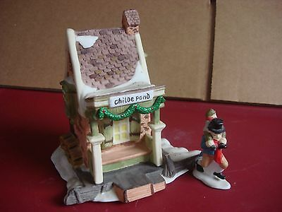 Department Dept. 56 Dickens Village 1988 Childe Pond with one Figure
