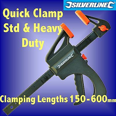 QUICK CLAMPS 100 150 300 450 600mm mini model woodwork spreader sash one hand