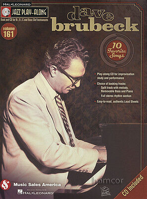 Dave Brubeck Jazz Play-Along Volume 161 Music Book/CD All Instruments Eb Bb C