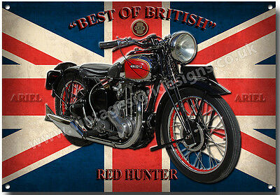 Ariel Red Hunter Motorcycle Metal Sign,classic,vintage,enthusiast,collectable.