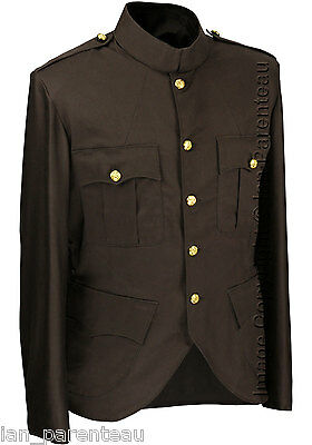 Brown Police / Military Style Cutaway Patrol Tunic, Tropical Unlined Poly/Cotton
