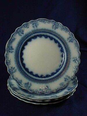"""FLOW BLUE FLORENCE WOOD & SONS 8-3/4""""  PLATE AS IS"""