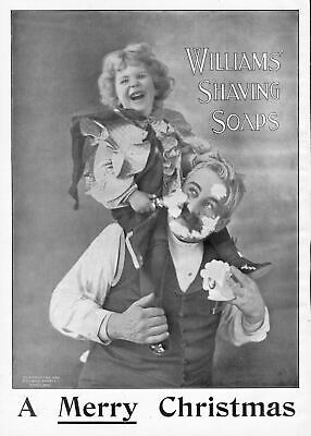 Merry Christmas From Williams Shaving Soap Antique Vintage 1898 Advertisement