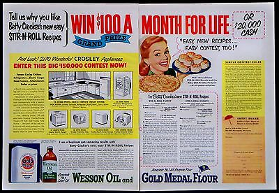 1951 Wesson Oil Gold Medal Flour Magazine Ad