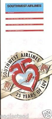 Ticket Jacket - Southwest - 25th Anniversary Years of Luv MCI V1 - 1996 (TJ394)