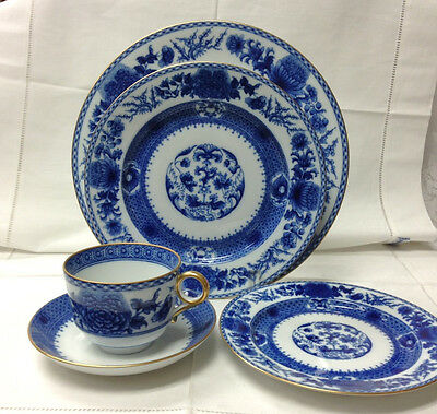 Mottahedeh Imperial Blue 5 Piece Place Setting Porcelain Brand New Portugal