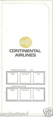 Ticket Jacket - Continental - White Gold - 1984 (TJ492)