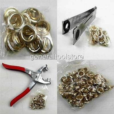 Eyelet Tools And Bagged Eyelets 5 8 10 And 12Mm Brassed Pliers Tarpaulin Shoes