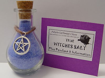 WITCHES SALT BLUE 50g Wicca Pagan Witch Mojo Spells PROTECT HEALING EVIL EYE