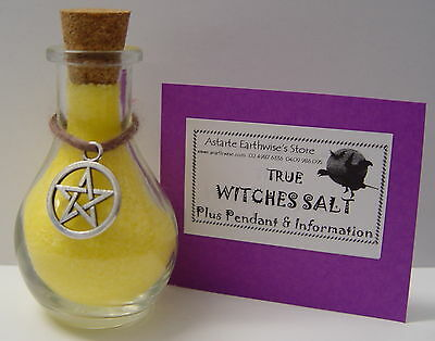 TRUE WITCHES SALT YELLOW 50g Wicca Pagan Witch Mojo Spell NEW BEGINNINGS SUCCESS