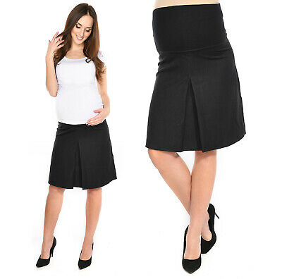 Maternity Smart Office contrafold Skirt Over Bump size UK 6 8 10 12 14 16 18