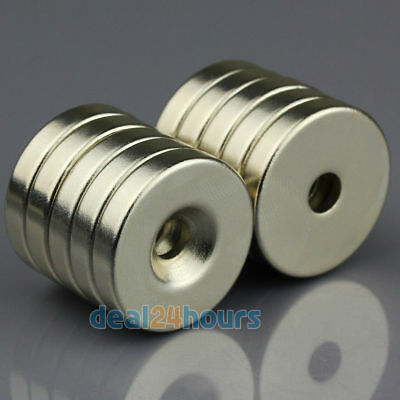 10x Strong Round Ring Magnets 25mm x 5mm Hole 5mm Disc Rare Earth Neodymium N50