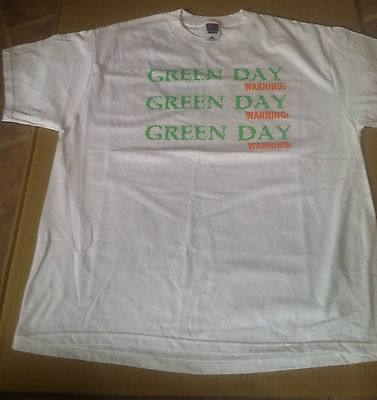 GREEN DAY 2000 PROMO T shirt NEVER WORN For Warning CD MINT w/ STREET DATE 2pics