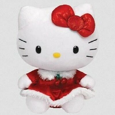 Ty Beanie Baby Hello Kitty - Red Christmas Dress