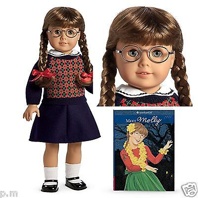 American Girl Molly Doll w/ Glasses and Book RETIRED Never Removed from box NEW