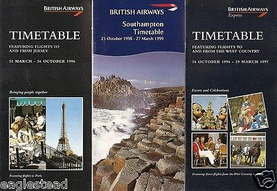 Airline Timetable - British Airways - City Timetable Mix