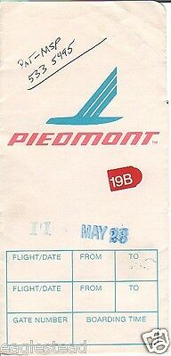 Ticket Jacket - Piedmont - White - 1988 (TJ615)