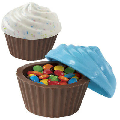 Wilton 3D Cupcake Look Container Case Cup Classic Candy Chocolate Mold Mould
