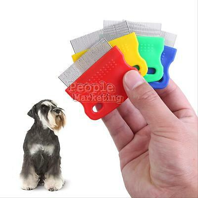 Pet Dog Puppy Cat Flea Cleaning Comb Grooming Tool Steel Small