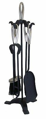Manor Black / Pewter Loop Fireside Fireplace Companion Tool Set 600Mm - 2126