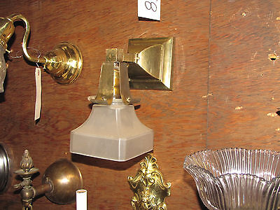 Antique Brass Mission Style Wall Sconce With Shade 6045